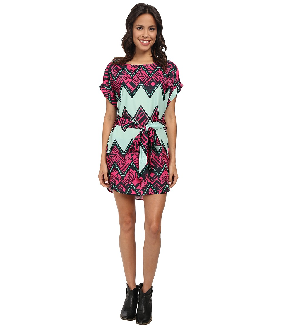 Rock and Roll Cowgirl - Cap Sleeve Dress D5-3787 (Mint) Women's Dress