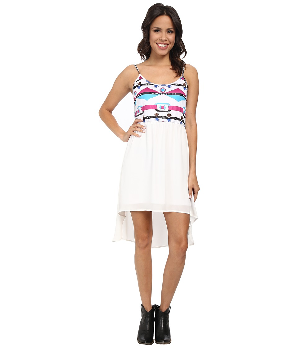 Rock and Roll Cowgirl - Spaghetti Dress D5-3788 (White) Women's Dress