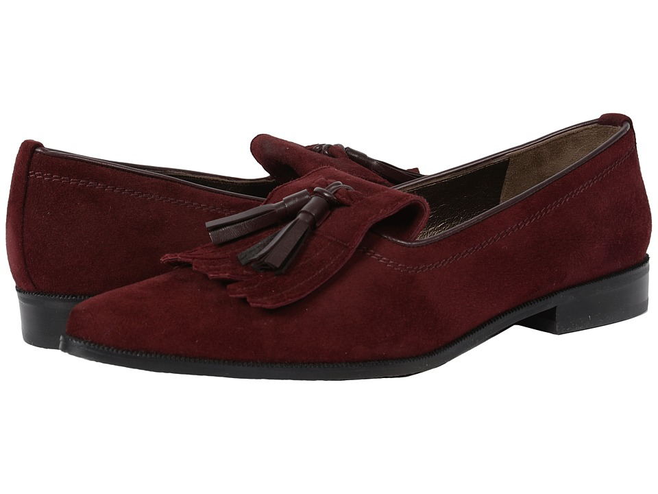 Stuart Weitzman - Avatass (Currant Suede) Women's Slip-on Dress Shoes