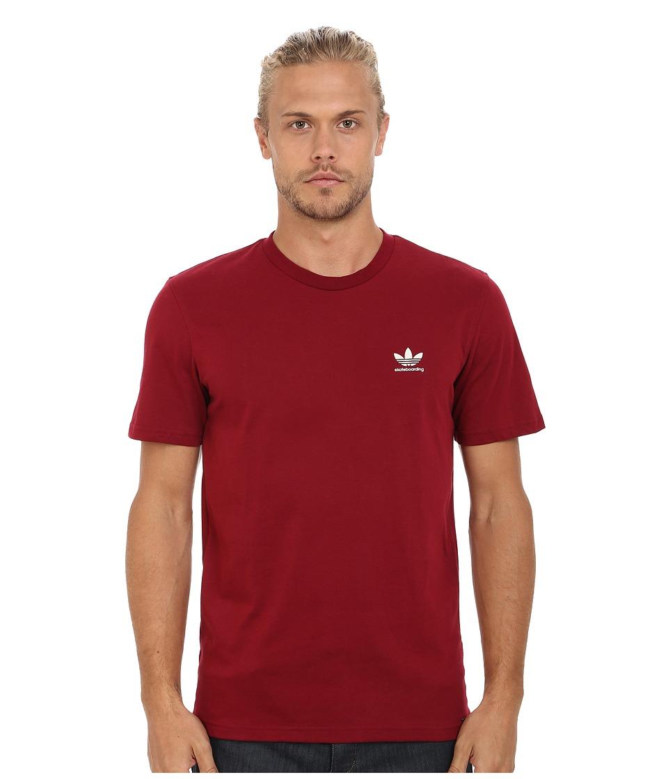 adidas Skateboarding - ADV 2.0 CLIMALITE Tee (Collegiate Burgundy/Mist Stone) Men's T Shirt