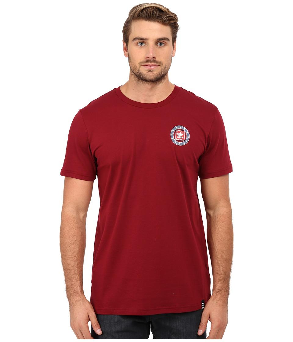 adidas Skateboarding - Team Turkey Vulture Tee (Collegiate Burgundy) Men's T Shirt