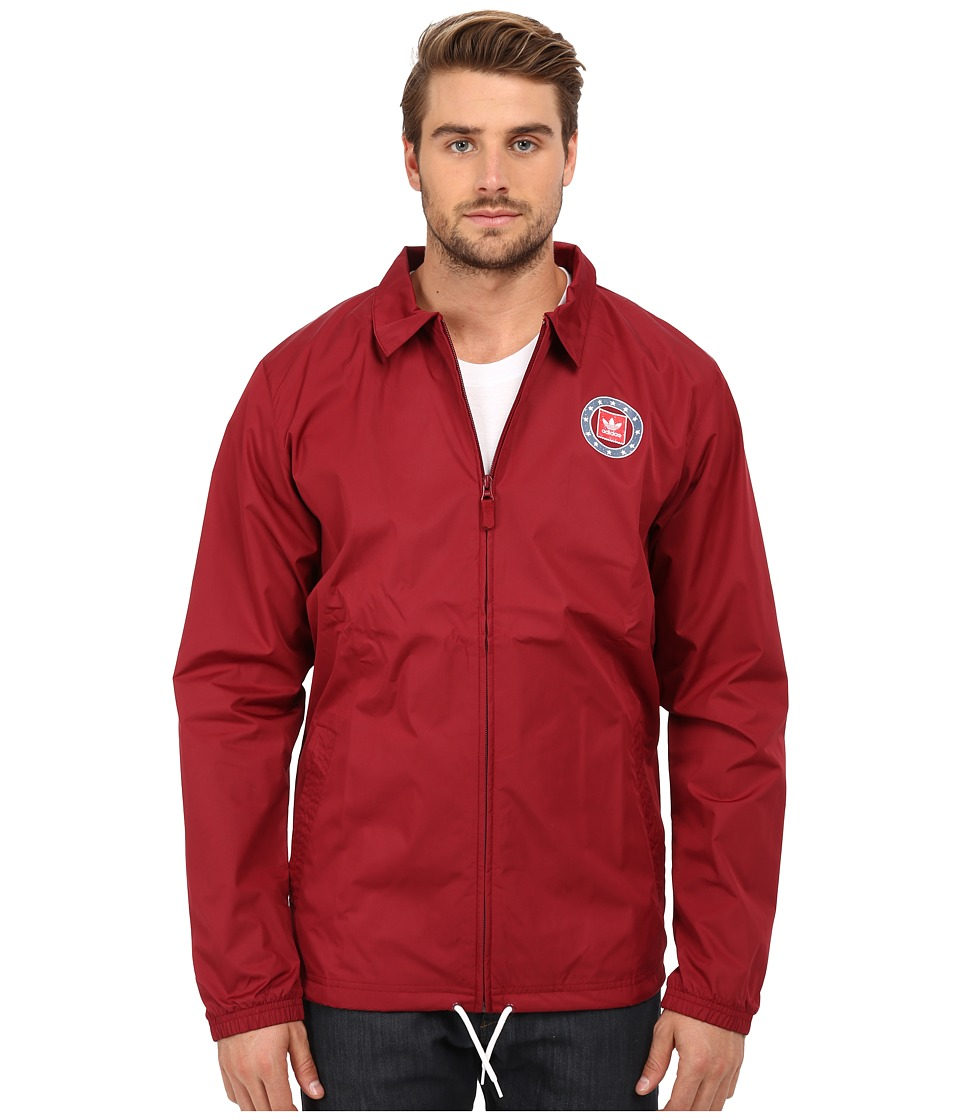 adidas Skateboarding - Coaches Jacket 2.0 (Collegiate Burgundy) Men's Coat