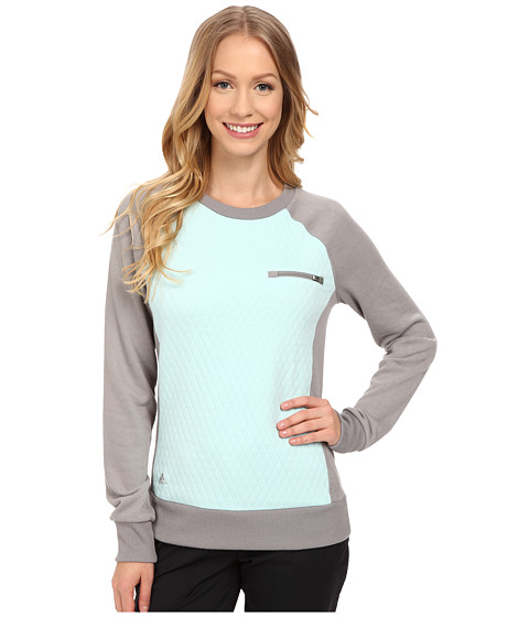 adidas Golf - Essentials Quilted Crew (Charcoal Solid Grey) Women's Sweatshirt