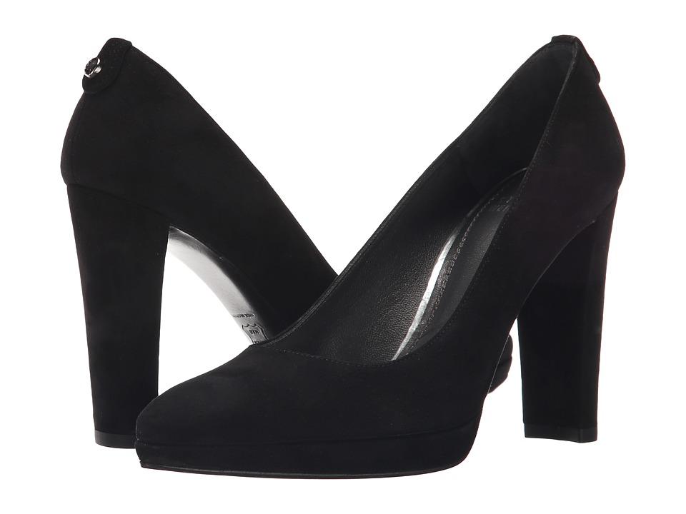 Stuart Weitzman - Logopower (Black Suede) High Heels
