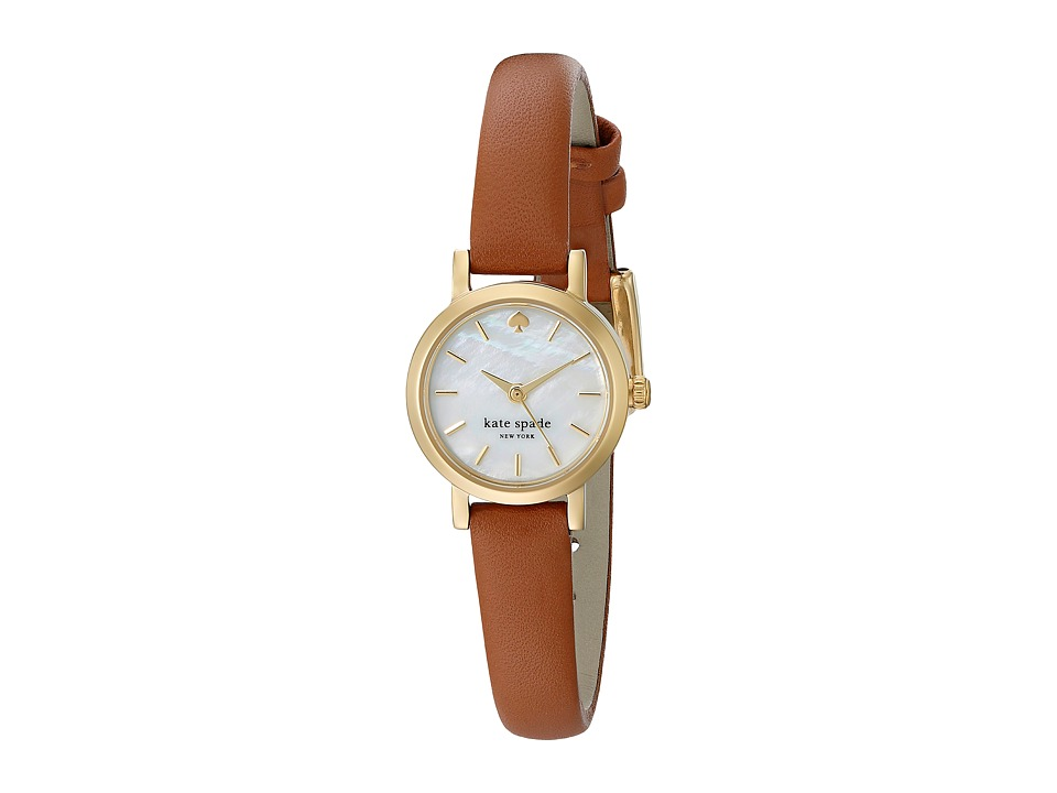 Kate Spade New York - Tiny Metro Strap Watch - 1YRU0867 (Brown) Watches
