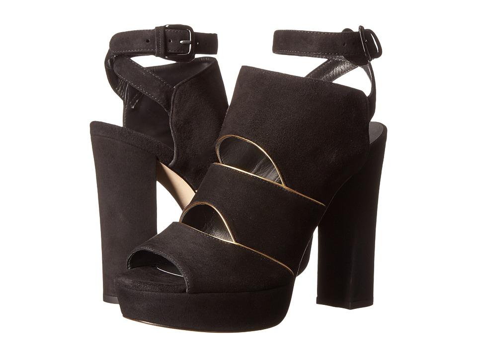 Stuart Weitzman - Slits (Black Suede) High Heels