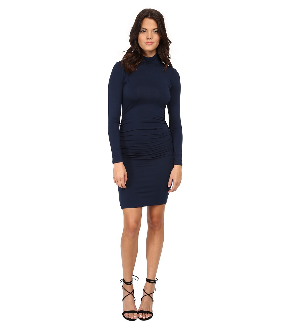 Michael Stars Exclusive L/S Turleneck Dress w/ Shirring (Ship) Women's Dress