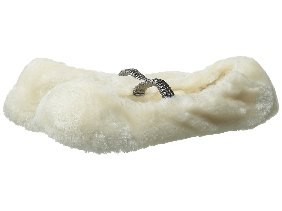 HUE - Furry Ballet Shue (Ivory) Women's Crew Cut Socks Shoes