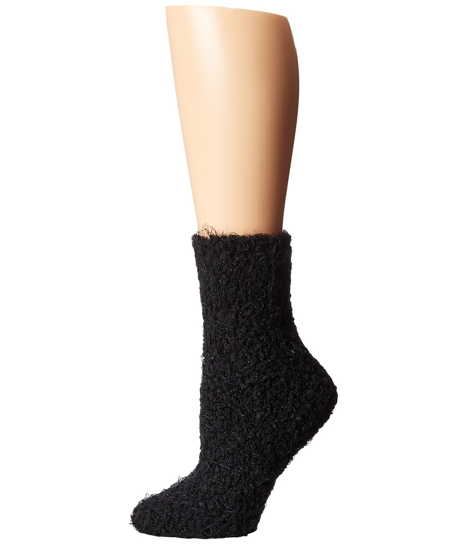 HUE - Fluff Sock (Black) Women's Crew Cut Socks Shoes