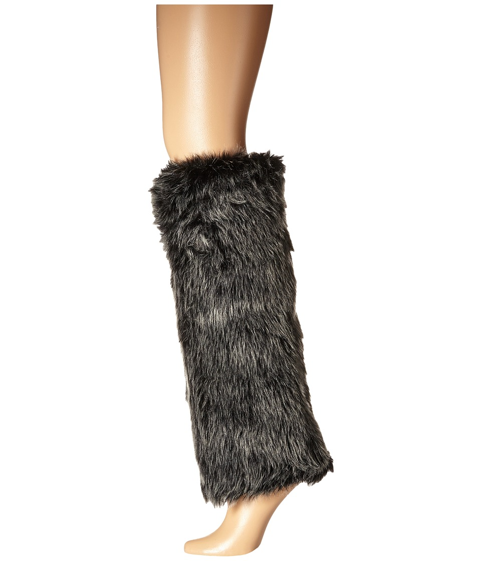 HUE - Furry Legwarmer (Black) Women's Crew Cut Socks Shoes