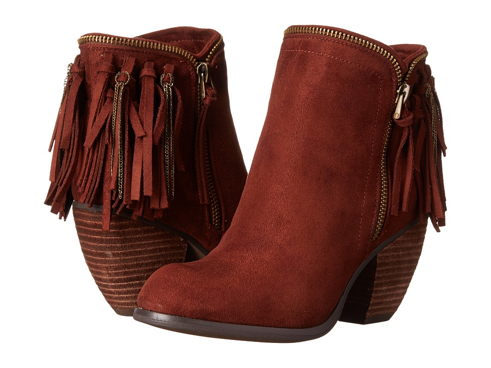 Not Rated - Flippin Fringe (Rust) Women's Zip Boots