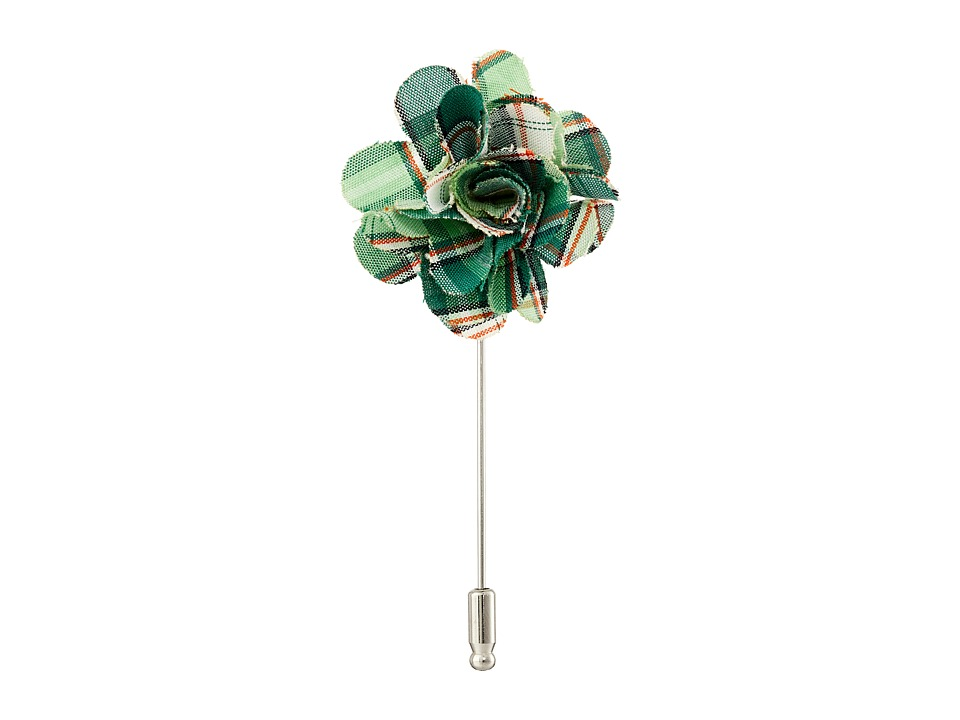 Original Penguin - Front Flower Lapel Pin (Green) Ties
