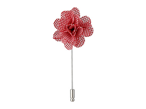 Original Penguin - Ant Gingham Flower Lapel Pin (Red) Ties