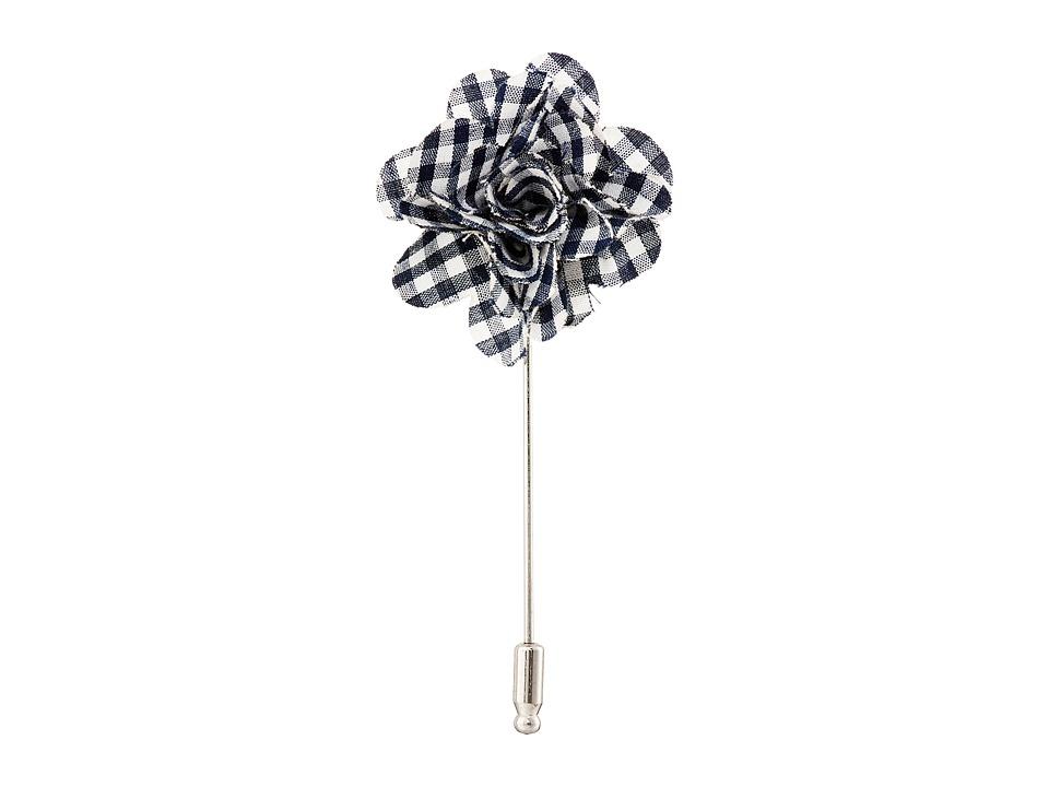 Original Penguin - Hanover Flower Lapel Pin (Dark Navy) Ties