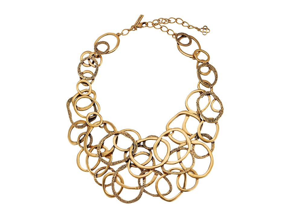 Oscar de la Renta - Circle Necklace (Russian Gold) Necklace