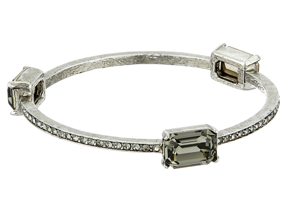 Oscar de la Renta - Octagon Stone Bangle (Black Diamond/Silver) Bracelet