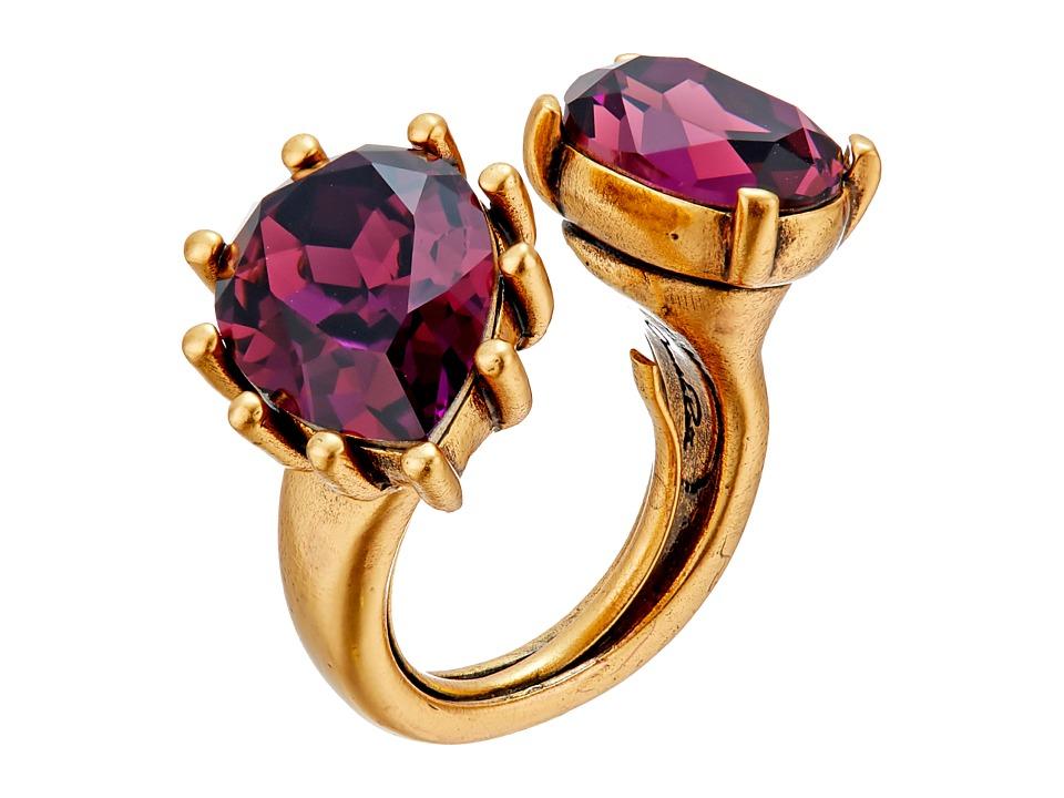 Oscar de la Renta - Pear Stone Ring (Ultraviolet) Ring