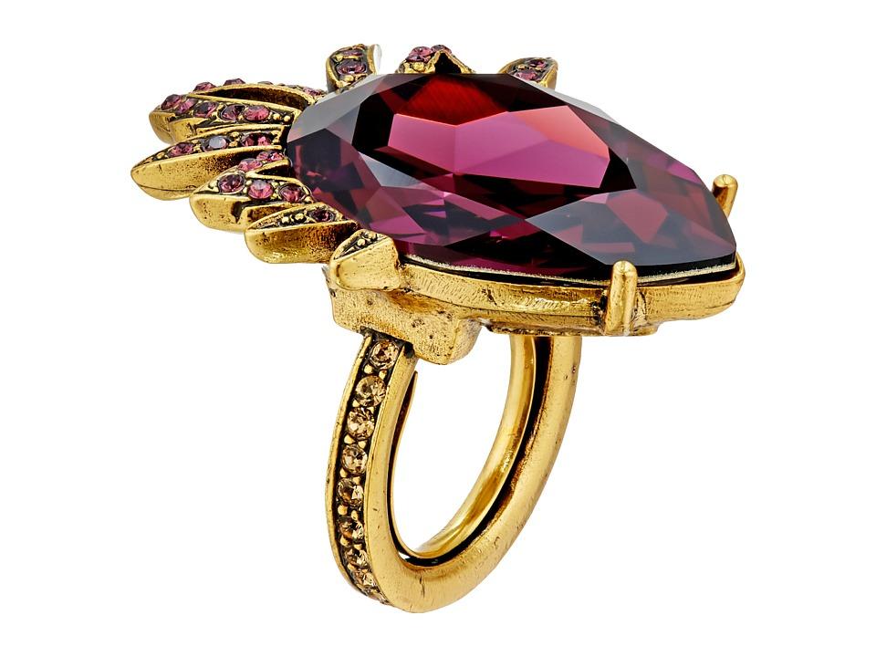Oscar de la Renta - Bold Pear Stone Ring (Ultraviolet) Ring