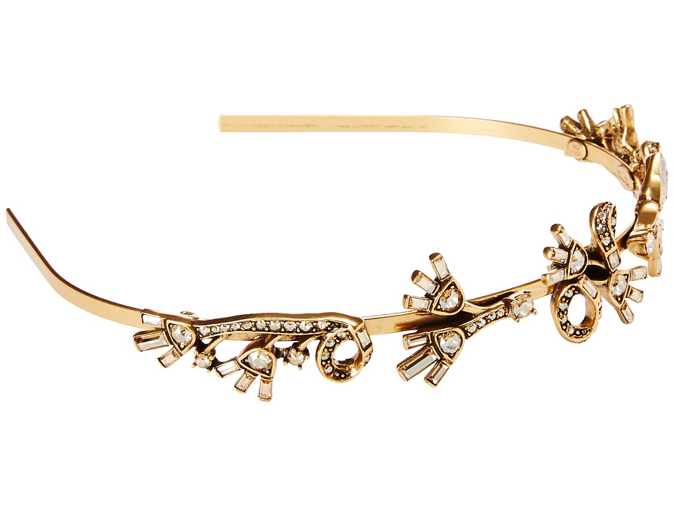 Oscar de la Renta - Floral Baguette Headband (Cry Gold Shadow) Headband