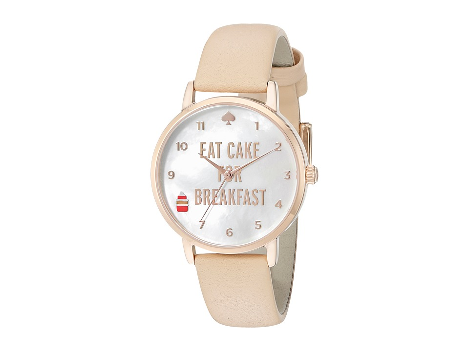 Kate Spade New York - Metro Eat Cake For Breakfast Strap Watch - 1YRU0892 (Vachetta) Watches