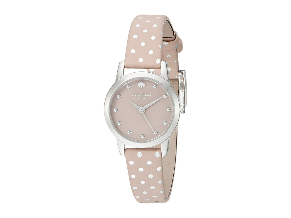 Kate Spade New York - Metro Mini Polka Dot Strap Watch - 1YRU0891A (Grey/Stainless) Analog Watches