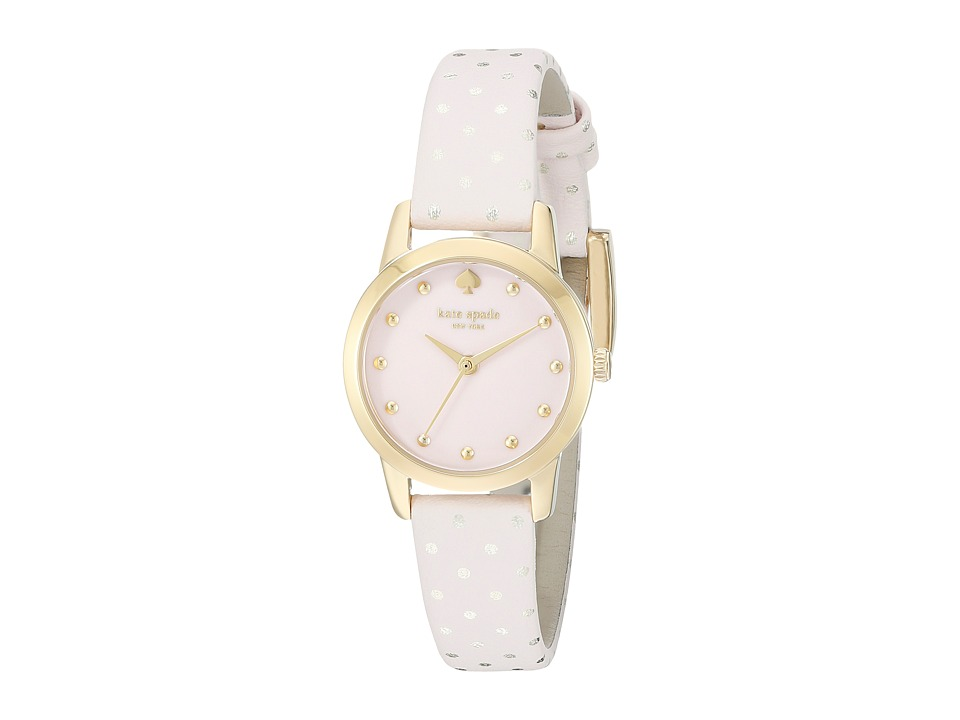 Kate Spade New York - Metro Mini Polka Dot Strap Watch - 1YRU0919A (Pale Pink/Rose Gold) Watches