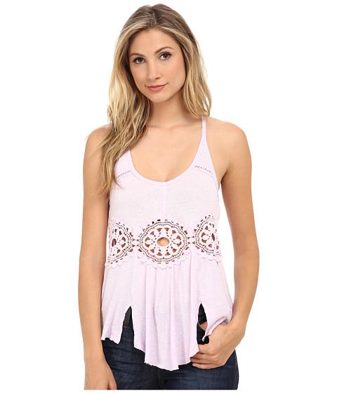 Free People - Cotton Linen Rib Sundial Tank Top (Lilac) Women