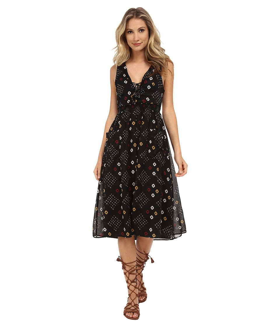 Free People - Cotton Batiste Pocketful of Wildflowers Dress (Onyx Combo) Women