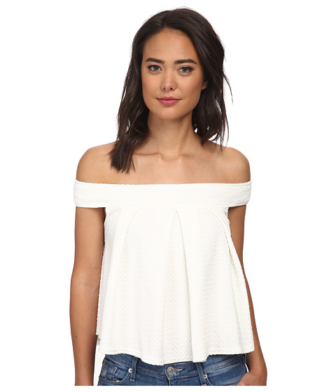 Free People - Ripple Jacquard Priscilla Top (Ivory) Women