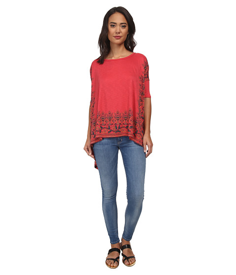 Free People - Rib Pick Me Up Tee (Pimento Combo) Women's T Shirt