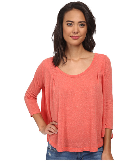 Free People - Flax Jersey Tambourine Tee (Persimmon) Women's T Shirt