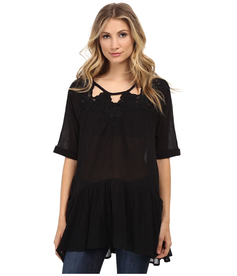 Free People - Sun Moon Tunic (Black) Women