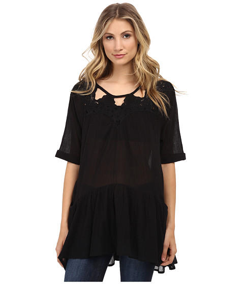 Free People - Sun Moon Tunic (Black) Women's Dress