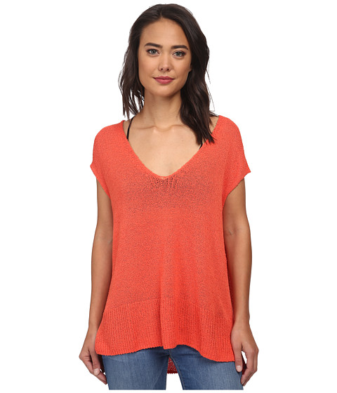Free People - Easy Tea Top Sweater (Persimmon) Women's Sweater