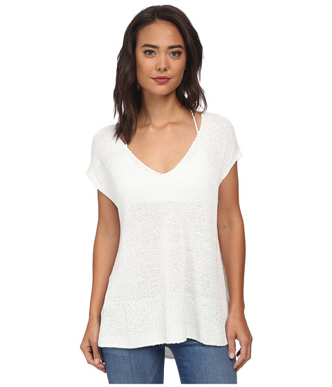 Free People - Easy Tea Top Sweater (White) Women's Sweater