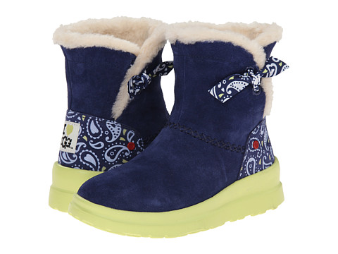 UGG - Knotty Paisley (Blue Jean Paisley Suede) Women
