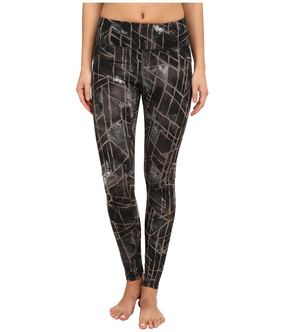 Zobha - Kadin Printed Leggings (Black) Women's Workout