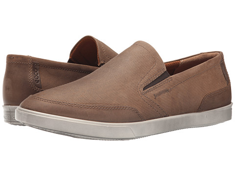 ECCO - Collin Casual Slip On (Camel/Cocoa Brown) Men's Shoes