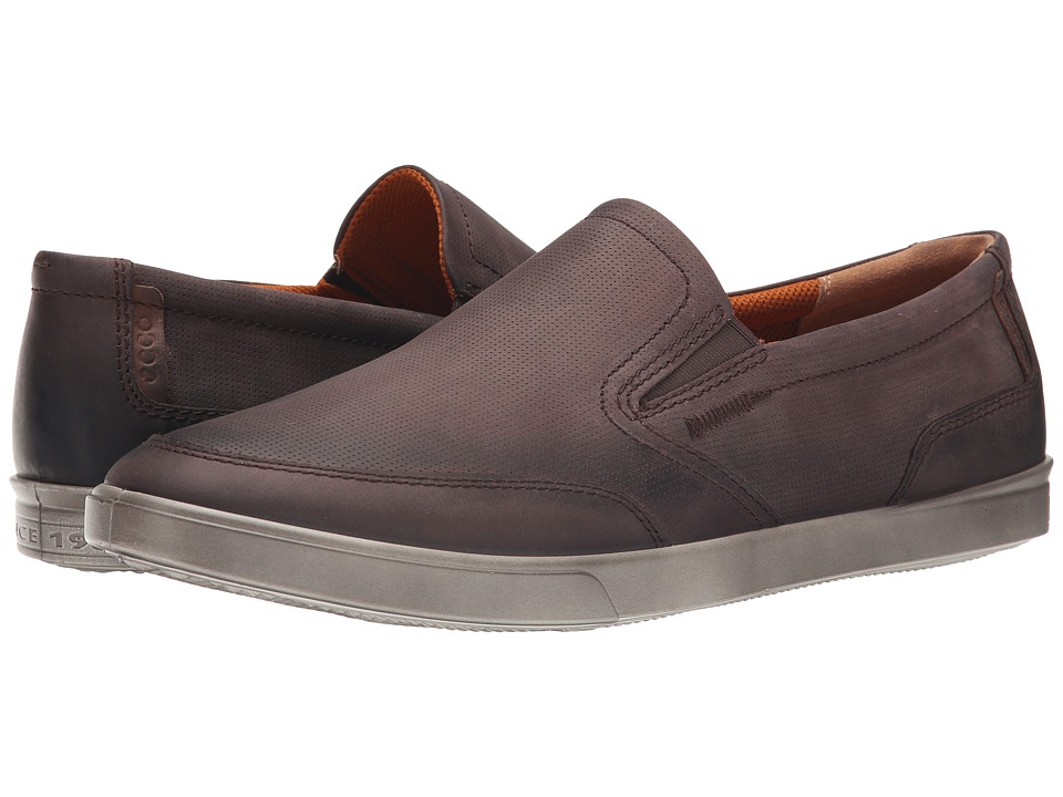 ECCO - Collin Casual Slip On (Mocha/Cocoa Brown) Men's Shoes