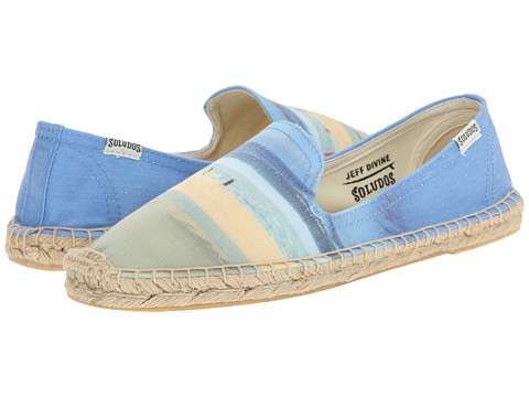Soludos - Smoking Slipper Jeff Devine Pipeline (Blue Multi) Women's Flat Shoes