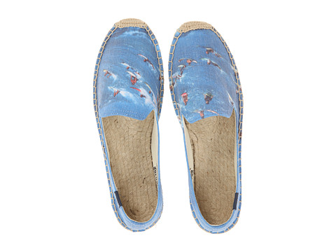 Soludos - Smoking Slipper Jeff Devine Surf Crowd (Blue Multi) Women's Flat Shoes