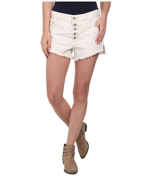 Free People - Rugged Denim Runaway Cut Off Shorts (Polar White) Women