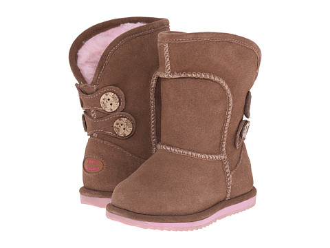 EMU Australia Kids - Charlotte Flower Waterproof (Toddler/Little Kid/Big Kid) (Oak) Girls Shoes