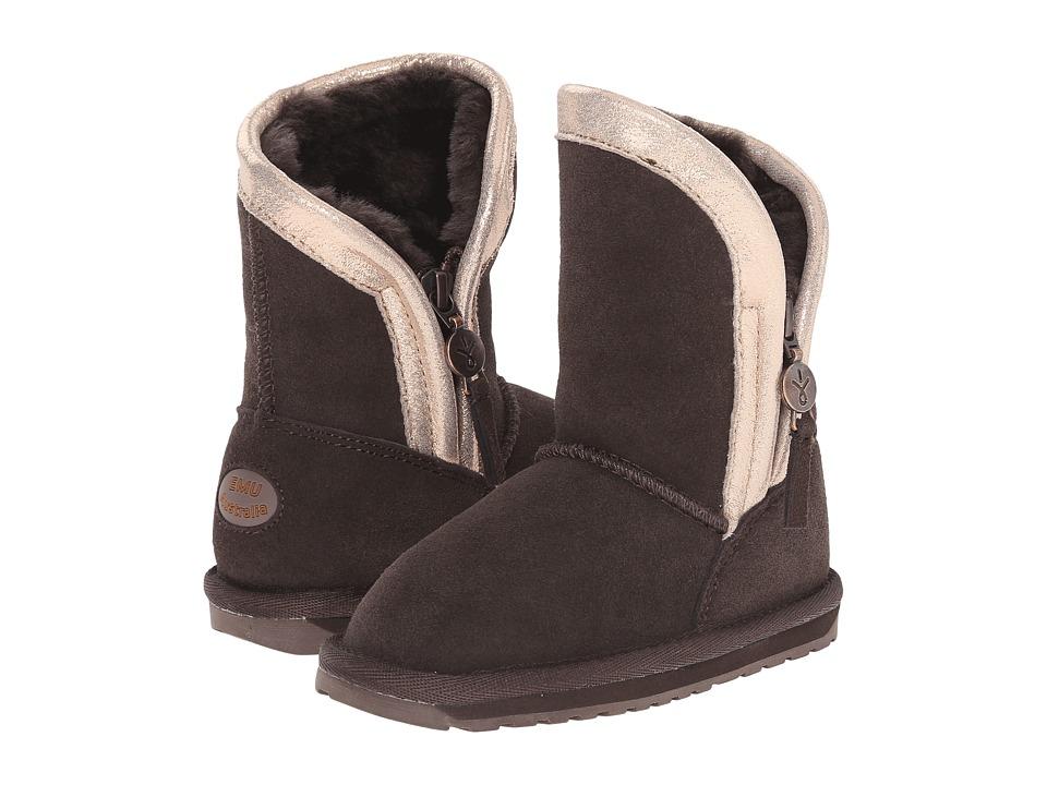 EMU Australia Kids - Saltbush (Toddler/Little Kid/Big Kid) (Chocolate) Girls Shoes