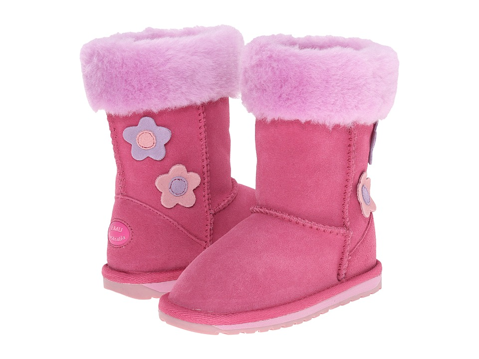 EMU Australia Kids - Flower Lo (Toddler/Little Kid/Big Kid) (Hot Pink) Girls Shoes