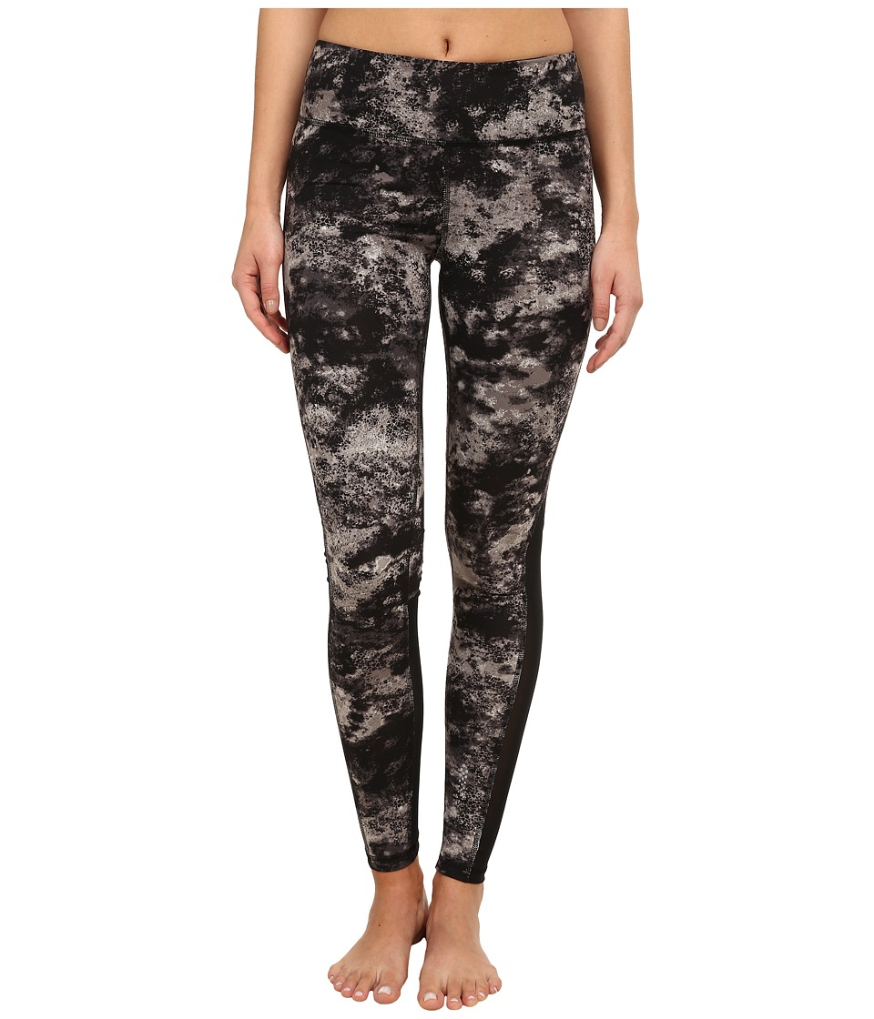 Zobha - Cosmo Printed Leggings with Mesh Panels (Pewter) Women's Workout