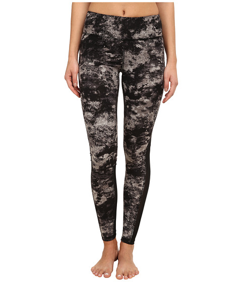 Zobha - Cosmo Printed Leggings with Mesh Panels (Pewter) Women
