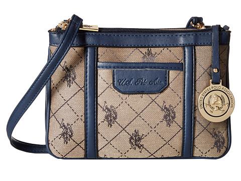 U.S. POLO ASSN. - Logo Jacquard Crossbody (Navy) Cross Body Handbags