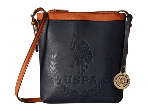 U.S. POLO ASSN. - Signature Embossed Crossbody (Navy) Cross Body Handbags
