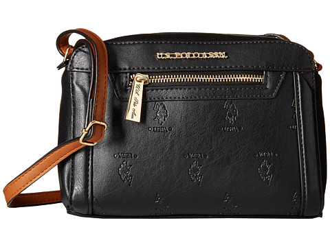U.S. POLO ASSN. - Embossed Logo Crossbody (Black) Cross Body Handbags